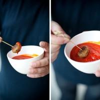 Gehaktballetjes met paprika-tomatensaus