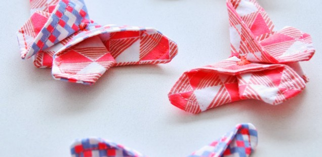 Origami met stof